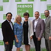 Friends In Deed board chair Richard Cheung, honorees Rhonda Stone, Carri Patterson Grindon representing Saint Mark's Episcopal Church, and Martin Burnham of Hercules Forwarding Inc., and Executive Director Rabbi Josh Levine Grater