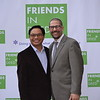 Richard Cheung and Rabbi Josh Levine Grater