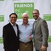 Richard Cheung, Pat Wickhem and Rabbi Josh Levine Grater
