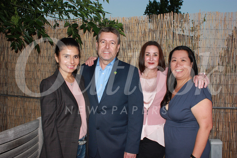 Vivian Godoy Rodriguez, Foothill Family CEO Steve Allen, Annalise Dachel and Melissa Wu