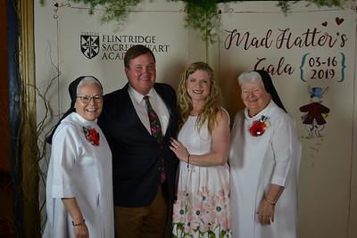Principal Sister Celeste Botello, Bob and Beth Huston, and President Sister Carolyn McCormack