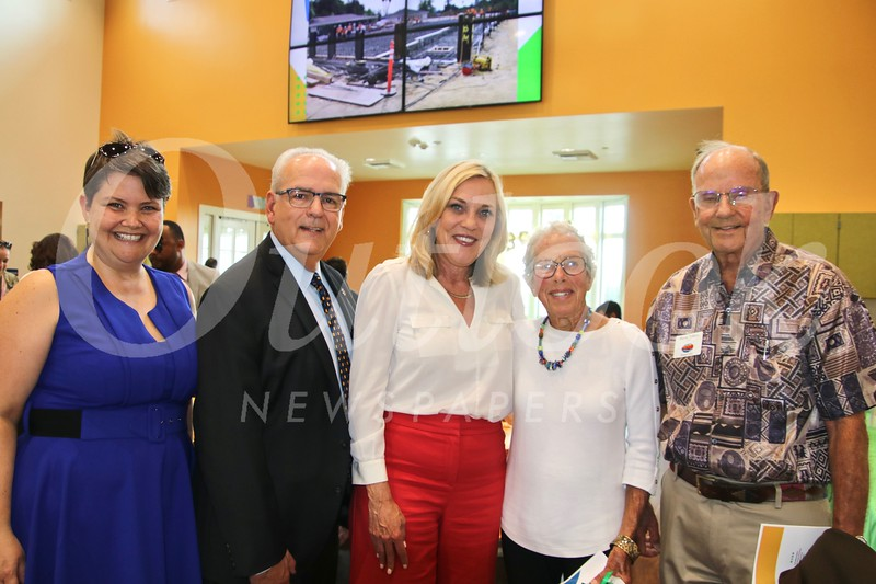 Amy Cousineau, Joe Costa, L.A. County Supervisor Kathryn Barger, and Marge and Sherm Telleen