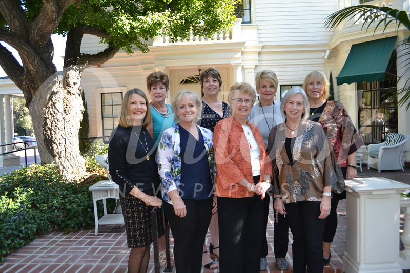 Chief home docents include Terry Jaurequi (front row, from left), Gail Crotty, Brenda Baity and Mona Neter. Back: Ann Beesan-Leal, Patricia Russell, Kathryn Gillespie and Cheri Strobel.