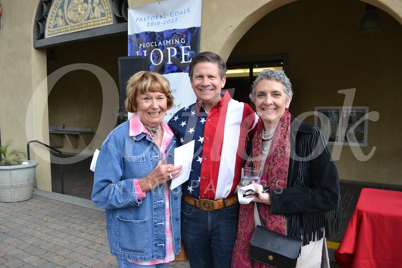 Judith Henderson with Bob and Chris McClain