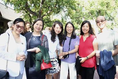 Betty Huang, Liz Zhou, April Niu, Tina Kleindorfer, and Alice and Kevin Choy