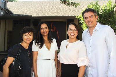 Lingling Chung, Reina Haq, and Sheila and Steve Rossi