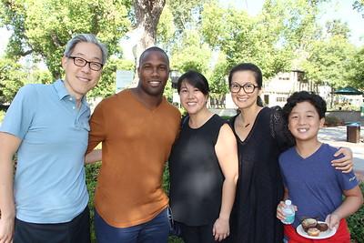 Joe Yuhan, Marcus Randolph, Emily Wang, and Julie and Evan Woo