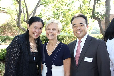 Jill Fung, Lynn O'Grady and board chair Richard Fung