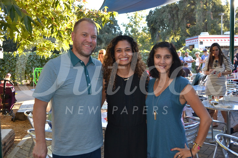 Philip and Neha Jespersen with Dimple Bhasin