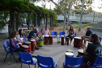 Guests enjoy drum lessons
