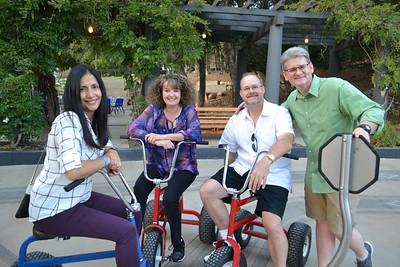 Gabrielle Carlton, Justene Pierce, Michael Frankie and Kidspace CEO Michael Shanklin