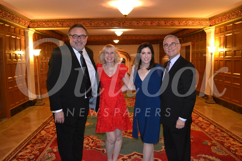 Bel Canto Award recipient Don Hahn, gala chair Andrea Greene Willard, and Rebecca Thompson Founder's Award recipients Jennifer and Joe Sliskovich