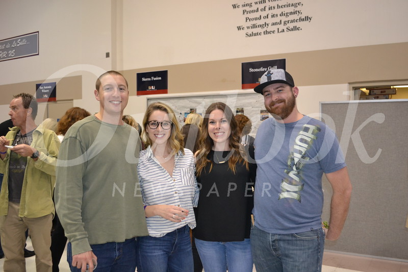 Andrew Muller, Cate Doyle and Caitlin and Cody Wolfe