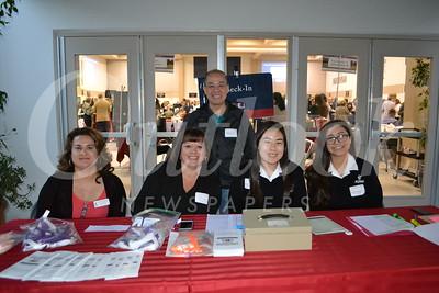 Elizabeth Silva (front), Laura Fasching, Noelle Shimazu and Annika Bohanec  Back William Po
