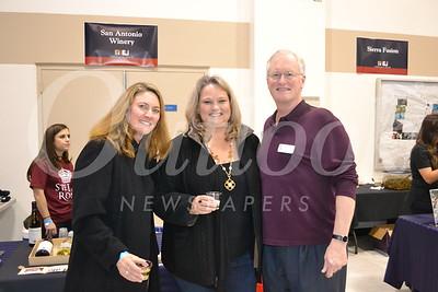 Cheryl Allen and Suzy Rettig with La Salle President Richard Gray