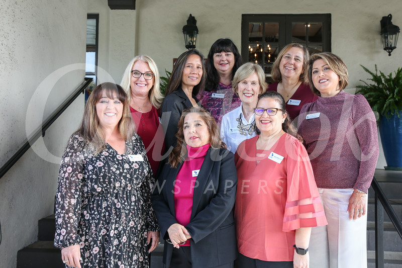 Mothers of Alumni Council members are (front row, from left) Heather Young, Tina Jimenez and Susan Cribbs. Second row: Tara Morales, Noelle Pope, Nancy Larr and Lisa Urbina. Back: Erin Helbing and Lucy Evans.