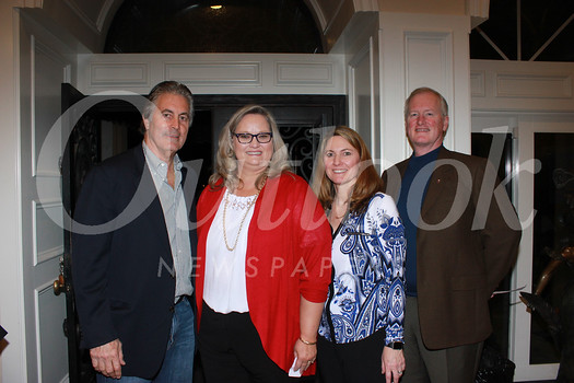 Vince Ferragamo, Suzy Rettig, Crystal Ball chair Cheryl Allen and La Salle President Richard Gray