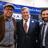 Pablo Alvarado, Rabbi Marvin Gross and Kenny Rotter