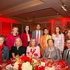 Kim Hall (front row, from left), Julie Byrne, Kathleen Duncan, Nancy Twist and Matthew Rabin. Back: Maureen Sprunger, Marissa Goldberg, SriniVas and Mamatha Sadda, Pamela Abbot and Marilyn Pinkerton.