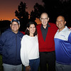 Head of School Joe Sciuto, Mary Cole, Father Alan Phillip and David Galaviz