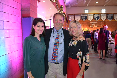 Headmaster Joe Gill with luncheon co-chairs Mary Cole and Leandra Hinrichs
