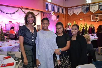 Eva and Savannah Davis with Marie and Kim Milton