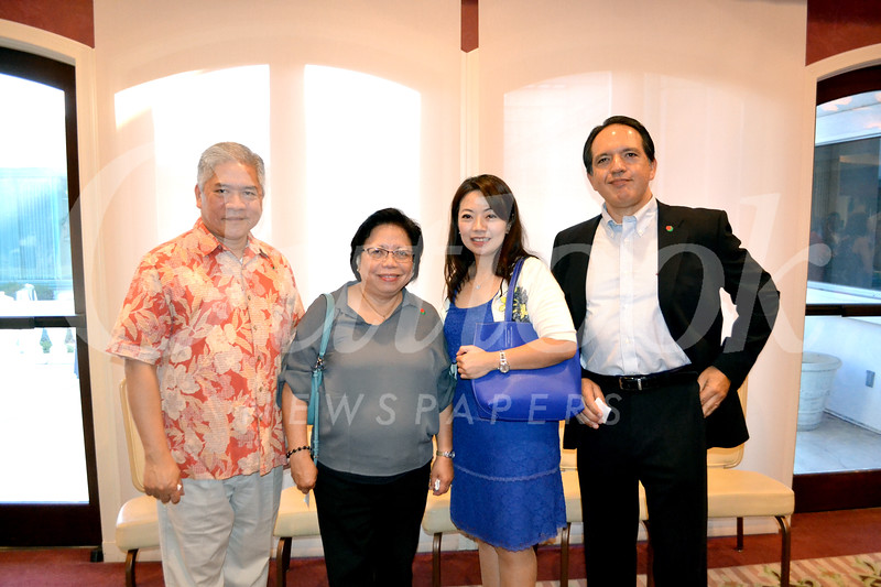 Alexander and Lydia Cheng, Shirley Lee and Manuel Figueroa