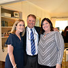 Outgoing Parents' Association President Karen Limongelli, Headmaster Joe Gill and incoming President Kristin Cook