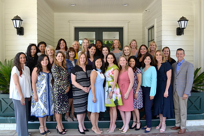 The 2018-19 Parents Association Board includes Karina Arabolaza (front row, from left), Maricela Rodrigues Gutierrez, Marcela Rock, Brigid Brahos, Vickie Chiang, Leah Mason, Julie Soma, Esther Barrera, Diane Rojas, Karen Limongelli and Chad Norton. Middle row: Cherie Ko, Teresa Dilbeck, Jennie Hyll, Mary Cole, Tess Henderson, Heather Chen, Julia Almanzan and Nicole von Thaden. Back: Julie Wong, Kristin Cook, Leandra Hinrichs, Caroline Borncamp, Tina Price, Kelly Self, Chelsey Page and Courtney Hotchkis.