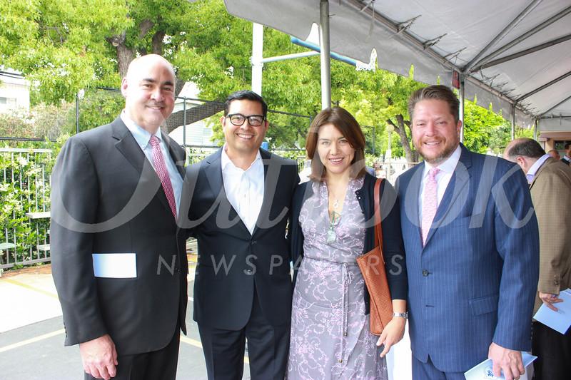 Geoff Bland, Alex and Mari Salazar, and Walter Conn