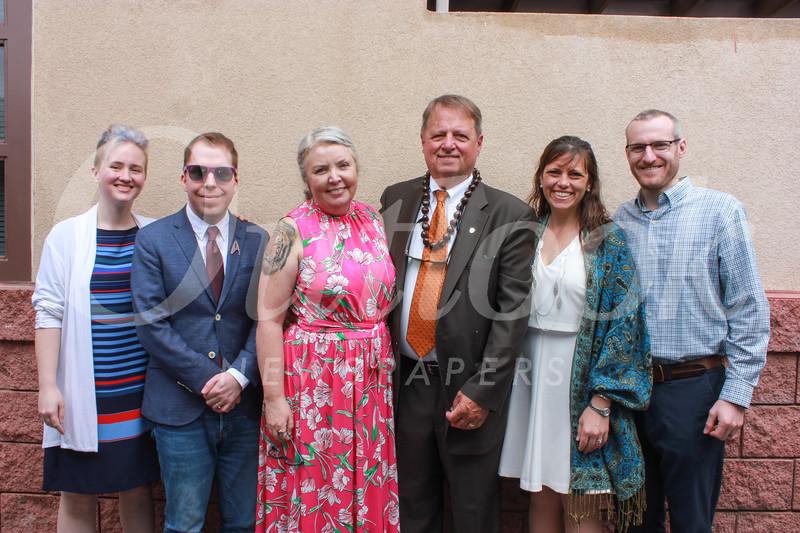 Phi Kurtze, Yoshi Kuroi, Sarah and Joe Gill, and Taylor and Kevin Lyden