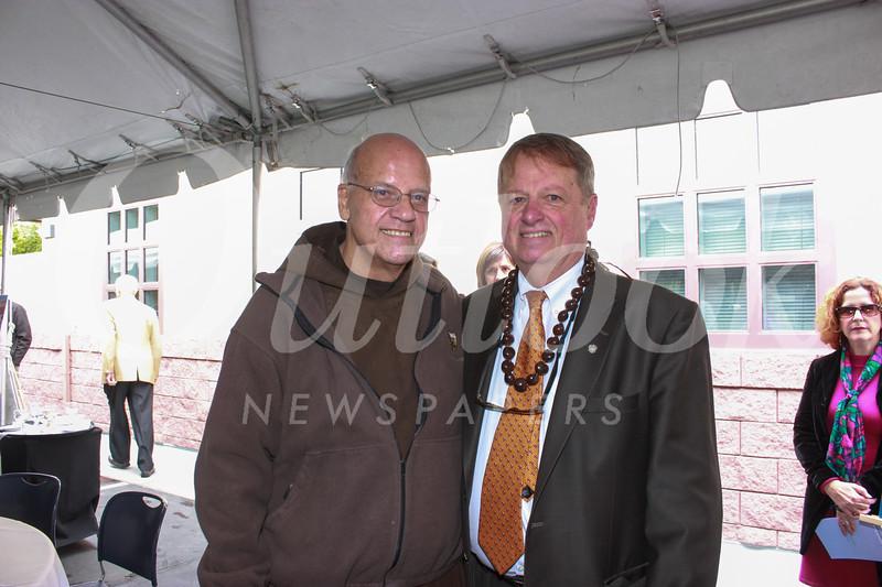 Father Tony Marti and Joe Gill
