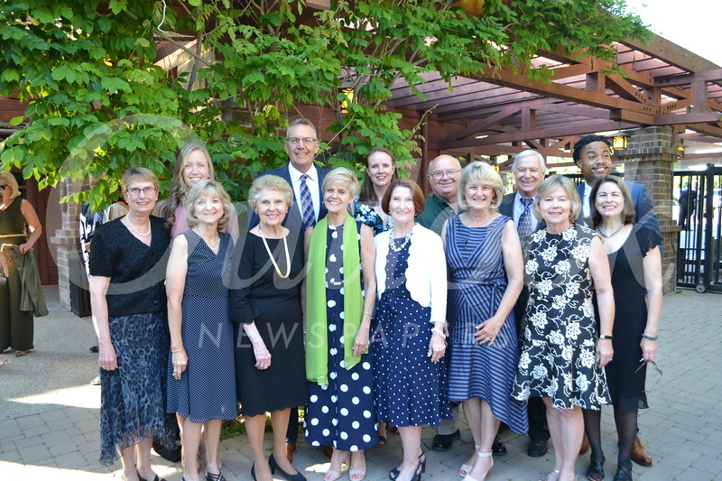 Janet Louie (front row, from left), Marilyn Manning, Lynn O'Grady, Janice Cook, Terry Shelton, Hilary Dorsey and Janet Wells. Back: Penny Hunt, Jessica Vaughan-Lower, Jeff O'Grady, Becca Bateman, Roger Hunt, Bill Wells and Duke Anderson.