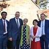 Duke Anderson, honoree Rev. Jeff O'Grady and Lynn O'Grady, Hyeshil Kim and Mike Bateman