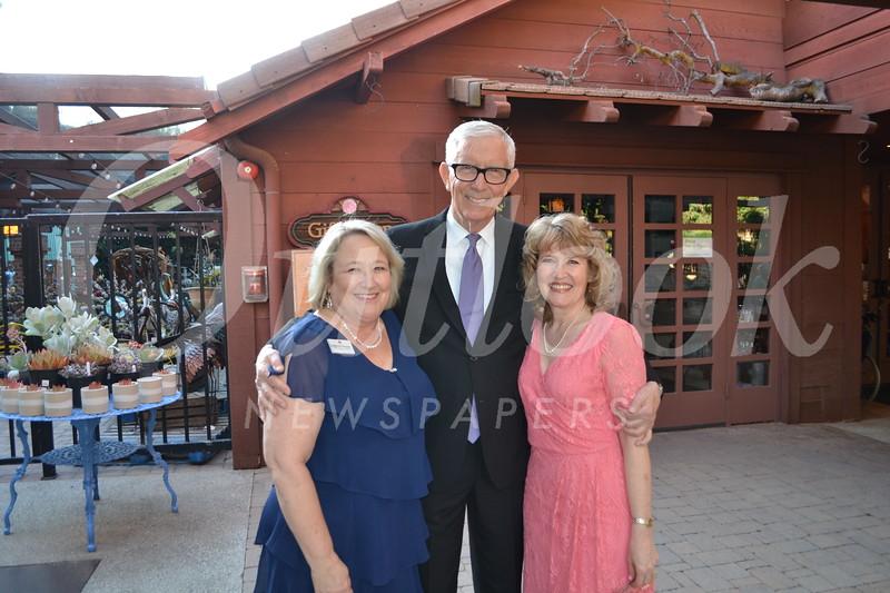 MVGH CEO Deborah Herbert, emcee Fritz Coleman and Director of Philanthropy Robin Harvill
