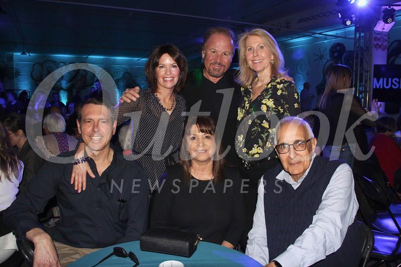 Tony Basalari (seated, from left), Barbara and William Hanna. Back: Leslie Basalari, Craig and Kim Darian.