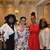 Cheryl Myers, scholarship recipients Allena DeVaughn and Nia Cathcart with Ashana Thorman