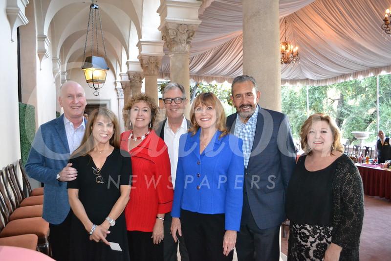 Sheldon and Annette Bull, Nancy Turner, Hoyt Hilsman, Jill and Bill Hawkins, and Bobbi Abram