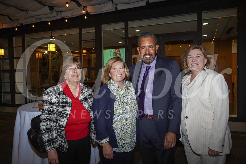 Gloria Pitzer, PCC President Erika Endrijonas, Foundation Board President Bill Hawkins and Executive Director Bobbi Abram
