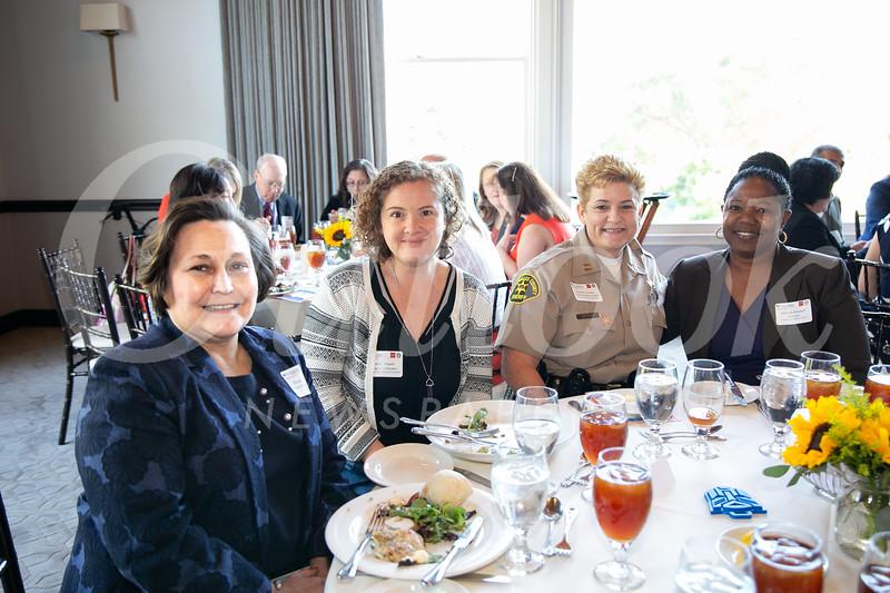 Elizabeth Blanco, Jamie Powell, Capt. Majory Jacobs and Merian Stewart