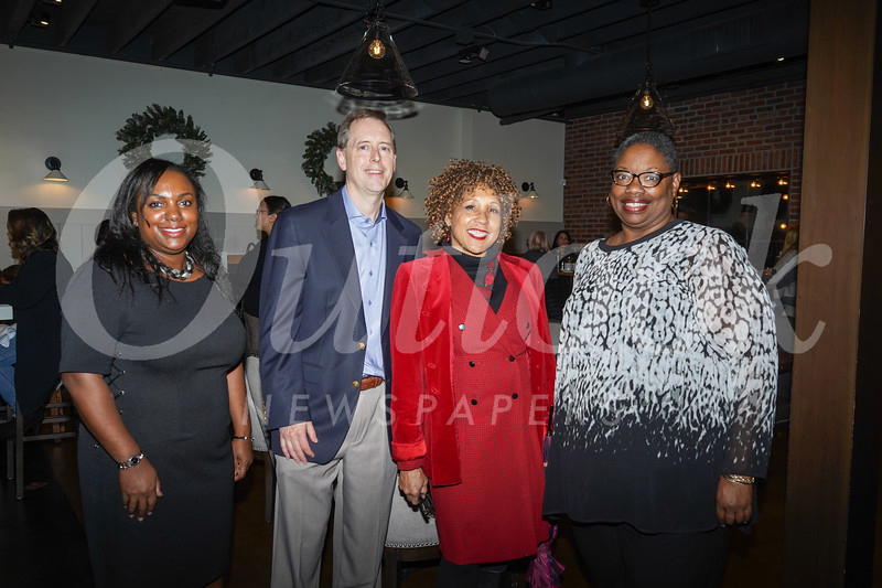 Myeisha Peguero Gamiño, vice president of public affairs and advocacy; Evan Hitchcock; Elizabeth Ellis; and Denise Jackson, senior director of human resources