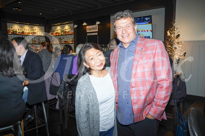 Lucy Lamb and Jimmy Christos, owner of Foothill Restaurant