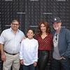 Luis and Brenden Aldana with event organizers Marcie Sabatella and Jordan Nedeff