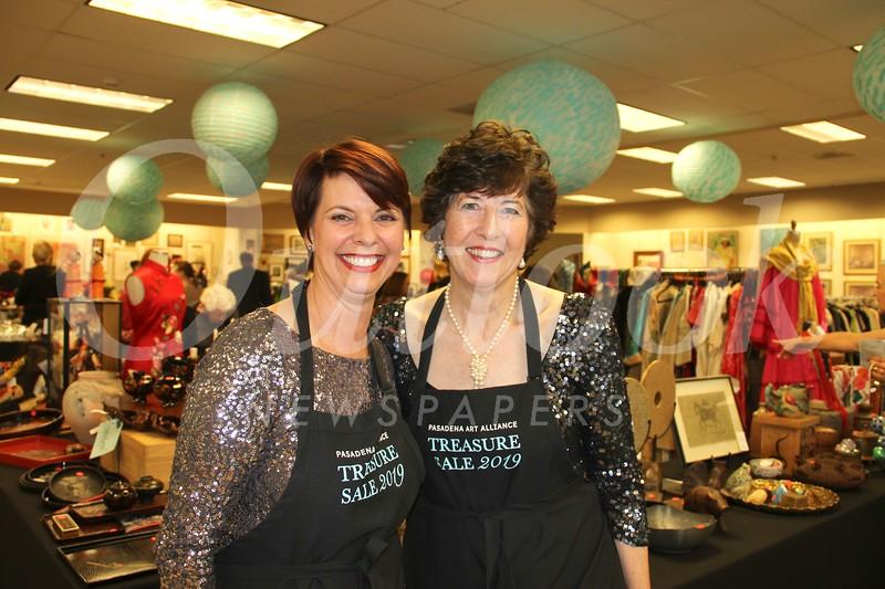 PAA Treasure Sale co-chairs Mia Dean and Barbara Davis