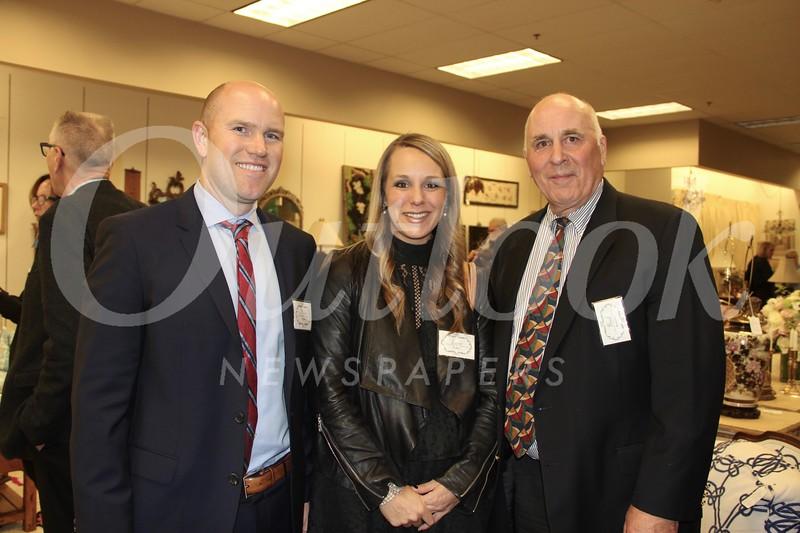 Nick and Lotsie Pappas with Brad Reynolds