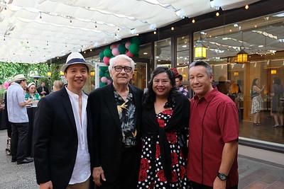 Charles Saldana, Gary Robertson, and Julie and David Wing