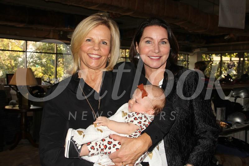 Cindy Jenkins with granddaughter Juliette and Guild President Sarah Shelton