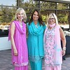 Paula Steele, Adrienne Kreindler and Amy Kessel model saris.