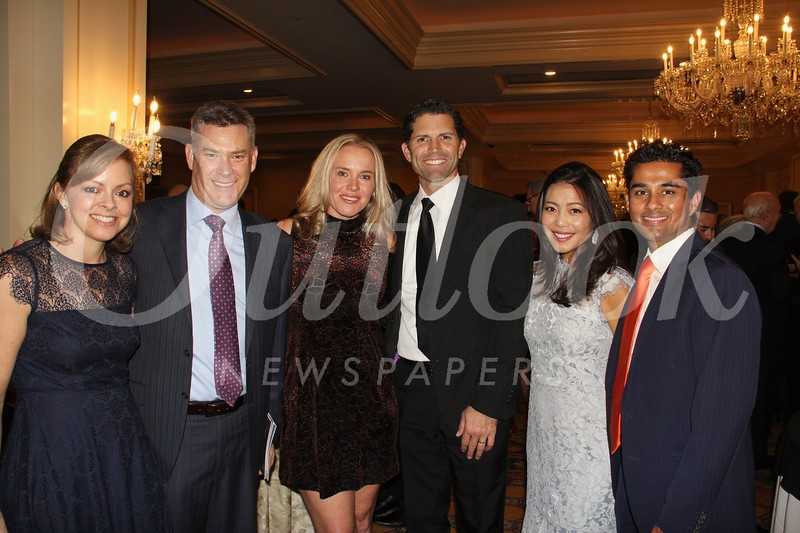 Erin and Simon Holford, Nicole and Jeremy Moreau, and Akemi and Ashay Dalvi