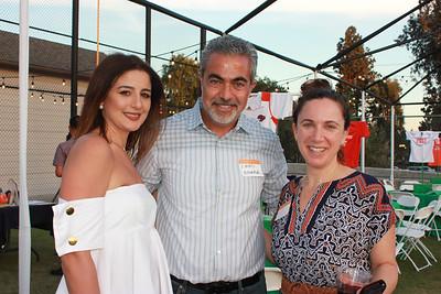 Nisreen and Emad Ammar with Jennifer Fleischer